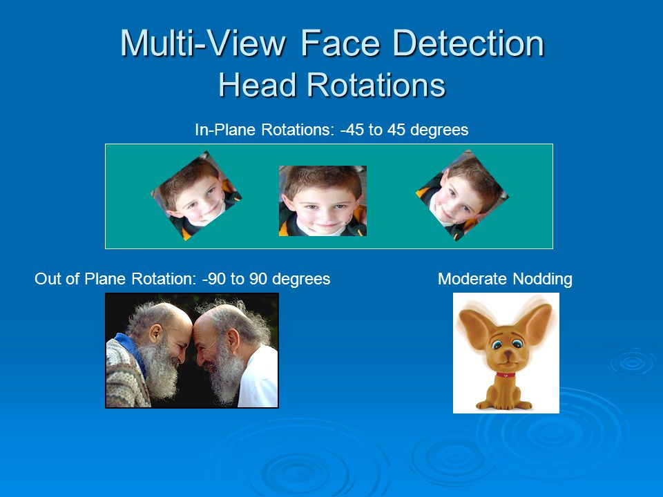 Multi-View Face Detection Head Rotations