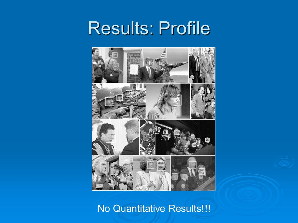 Results: Profile No Quantitative Results!!!