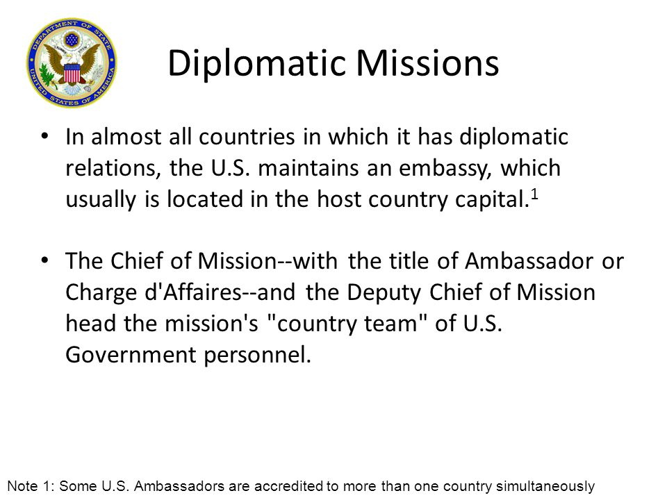 Diplomatic Missions