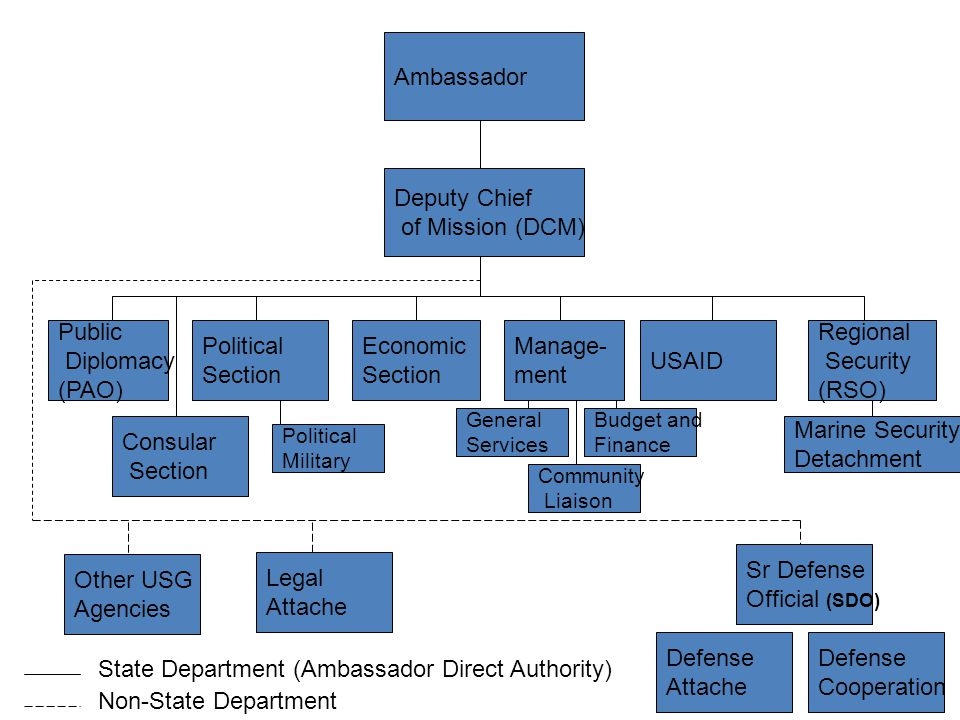 State Department (Ambassador Direct Authority) Non-State Department