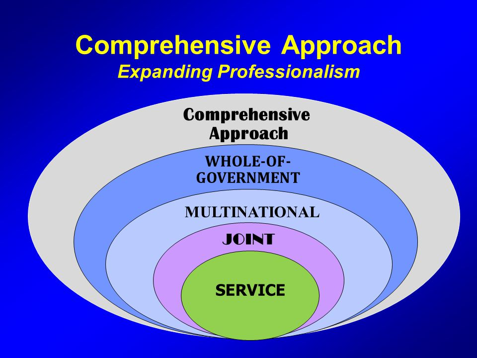 Comprehensive Approach Expanding Professionalism