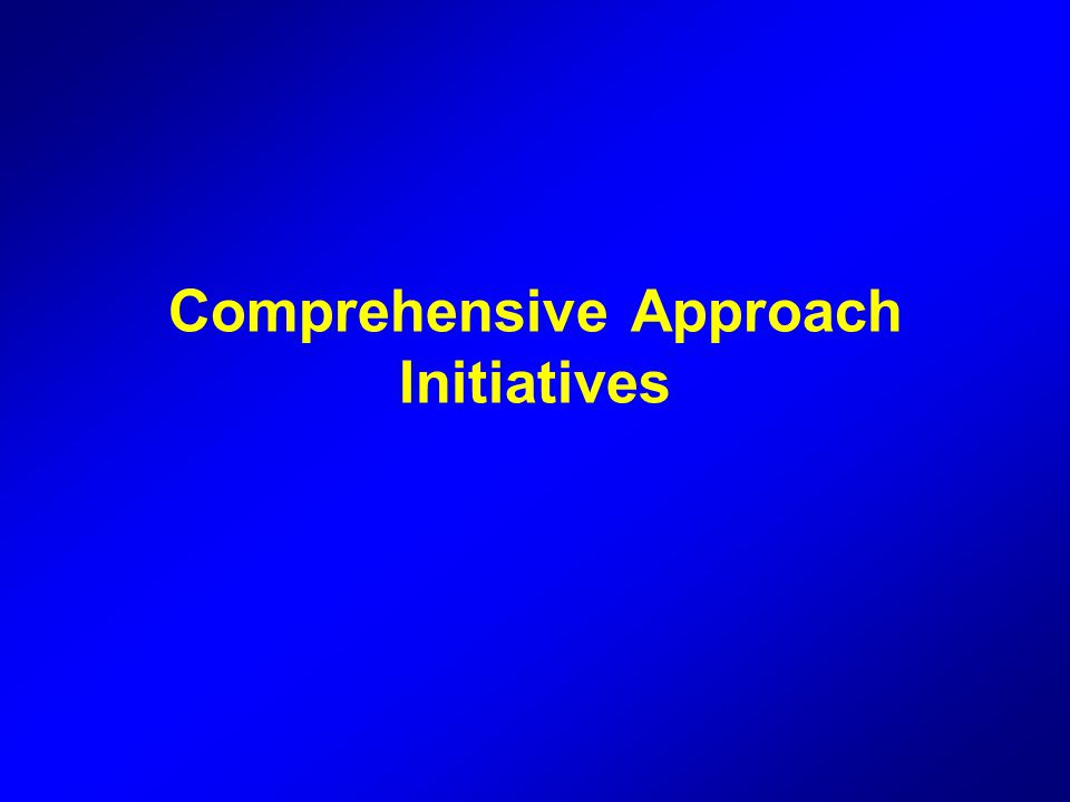 Comprehensive Approach Initiatives