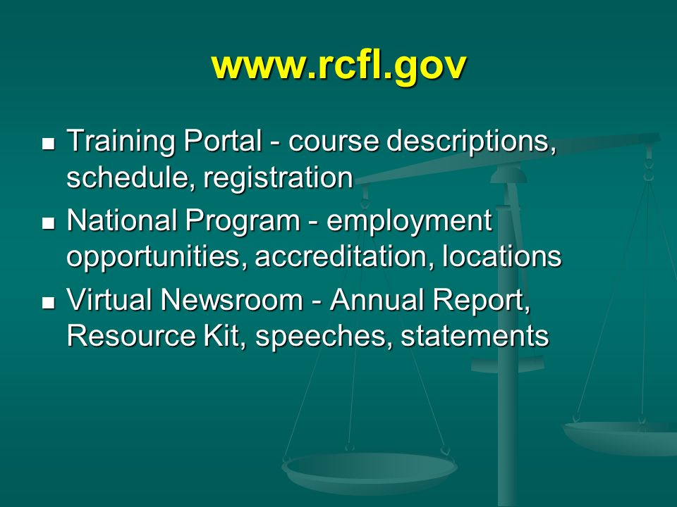 Training Portal - course descriptions, schedule, registration. National Program - employment opportunities, accreditation, locations.