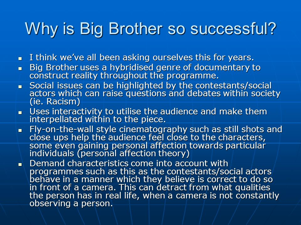 Why is Big Brother so successful