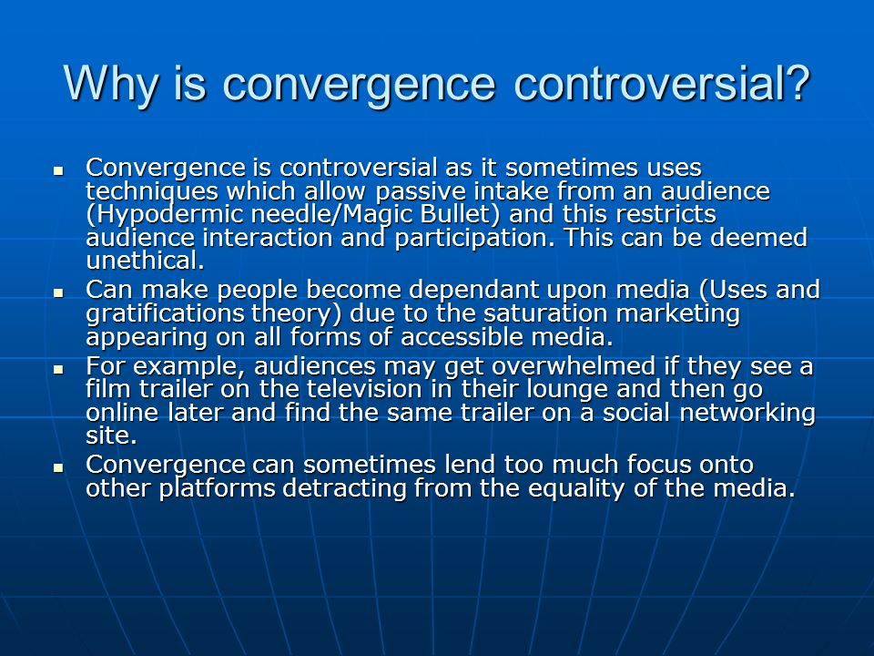 Why is convergence controversial