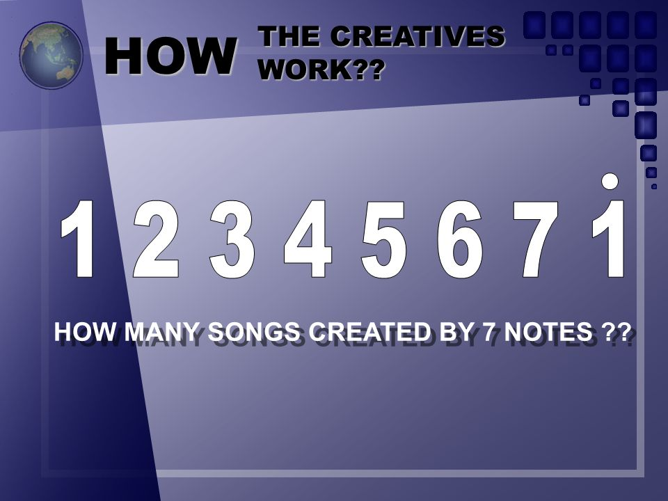 HOW MANY SONGS CREATED BY 7 NOTES