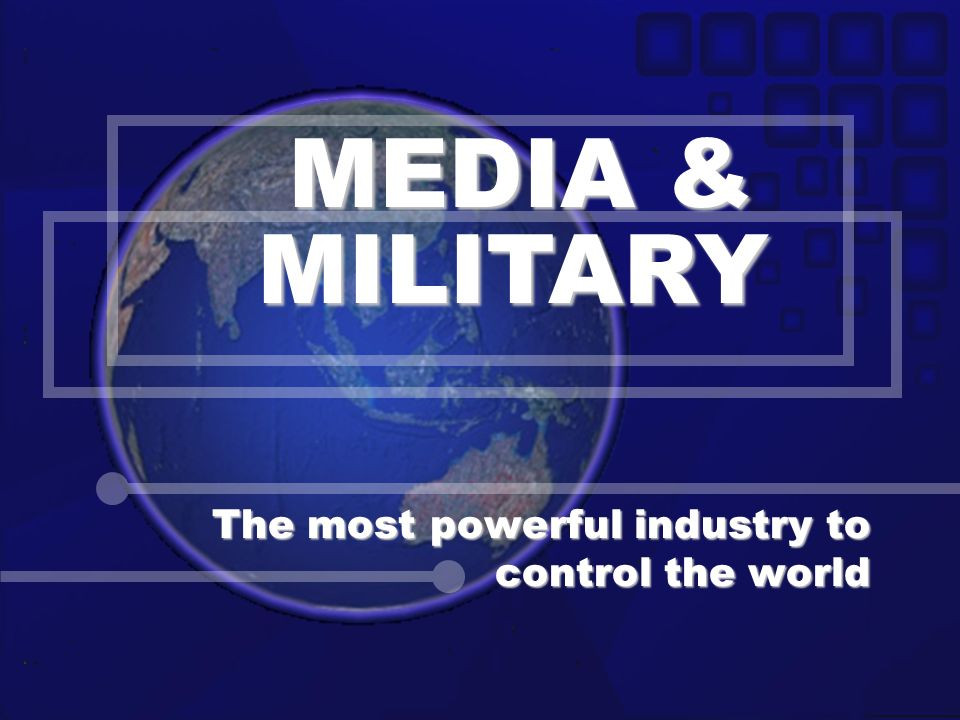 The most powerful industry to control the world