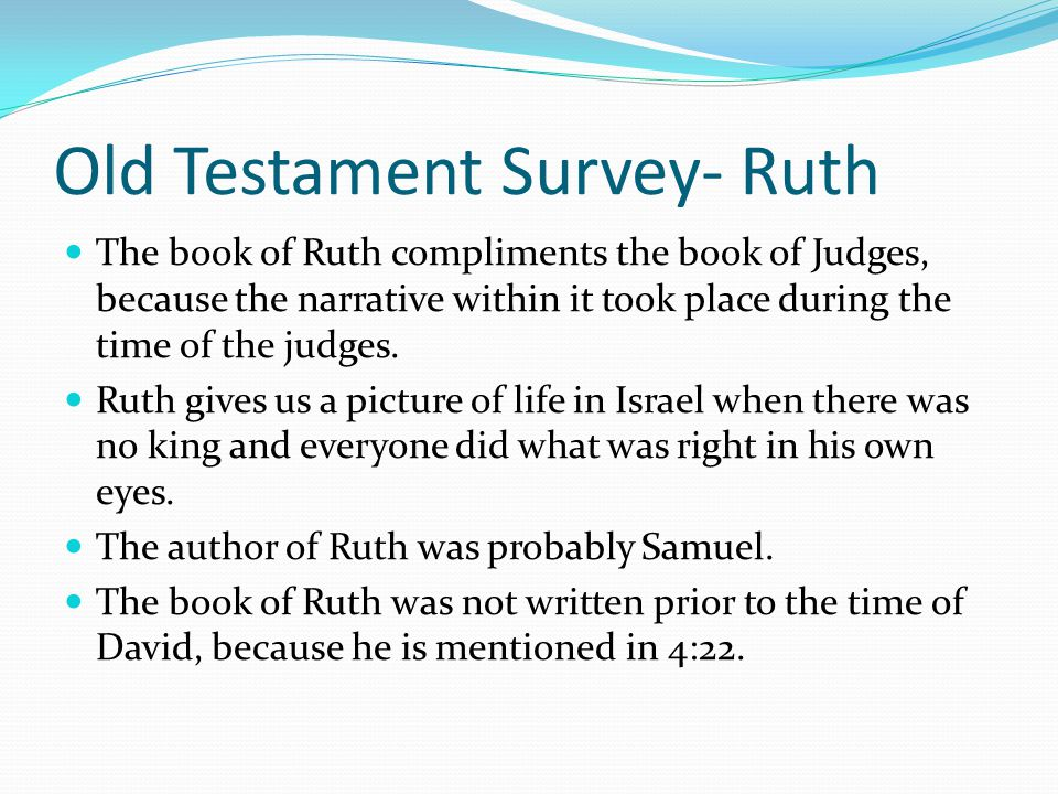 Old Testament Survey- Ruth
