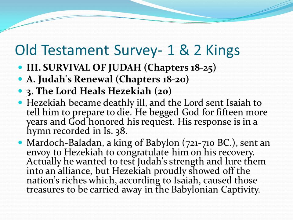 Old Testament Survey- 1 & 2 Kings