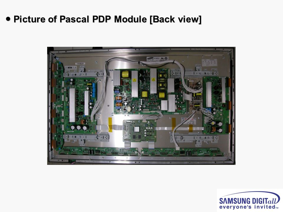 ● Picture of Pascal PDP Module [Back view]