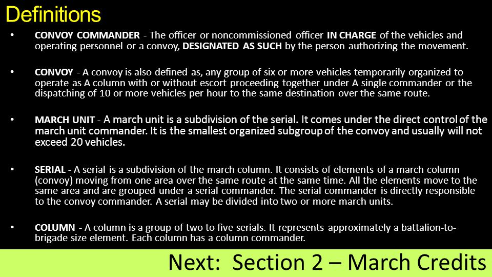 Next: Section 2 – March Credits