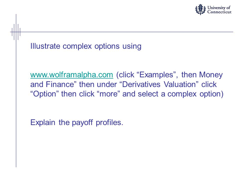 Illustrate complex options using