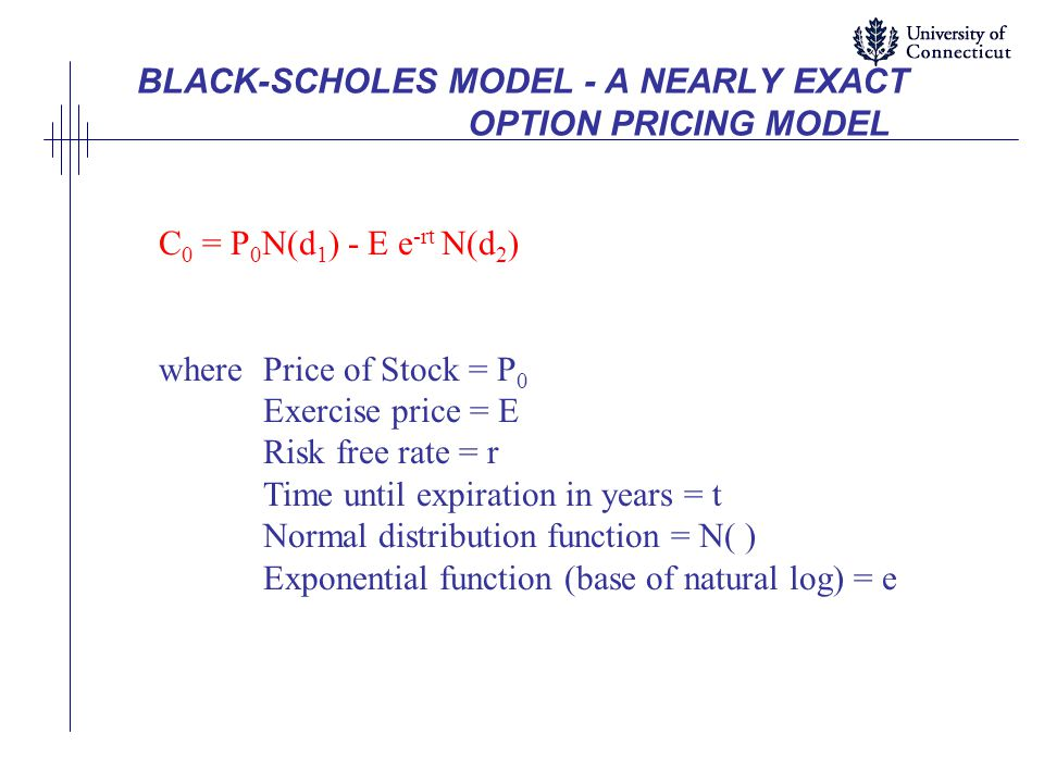 BLACK-SCHOLES MODEL - A NEARLY EXACT OPTION PRICING MODEL