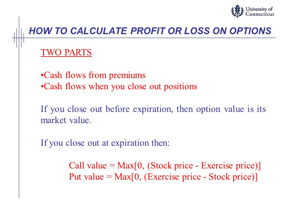 HOW TO CALCULATE PROFIT OR LOSS ON OPTIONS