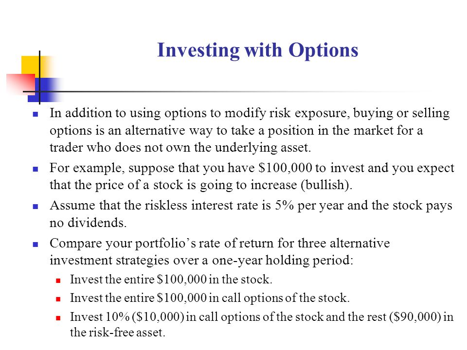 Investing with Options