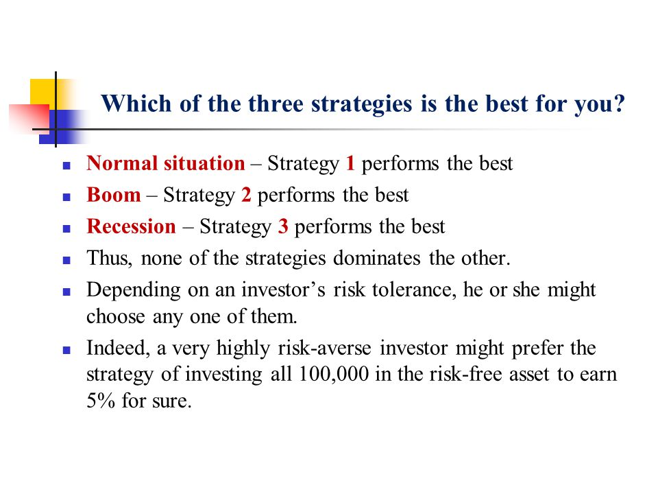 Which of the three strategies is the best for you