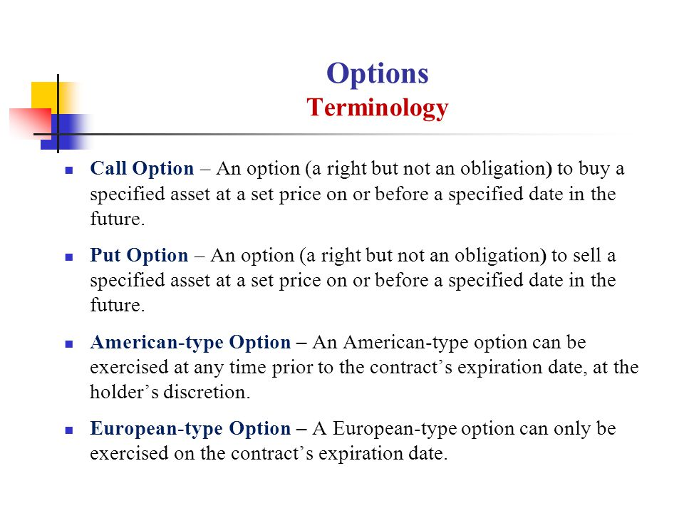 Option of American Type