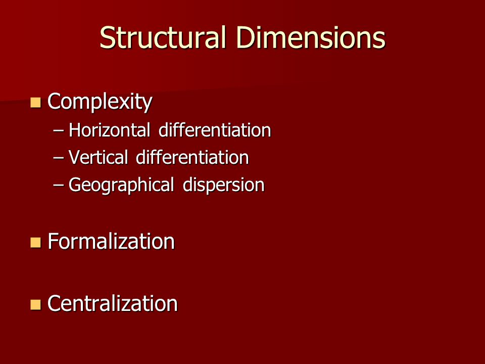 Structural Dimensions