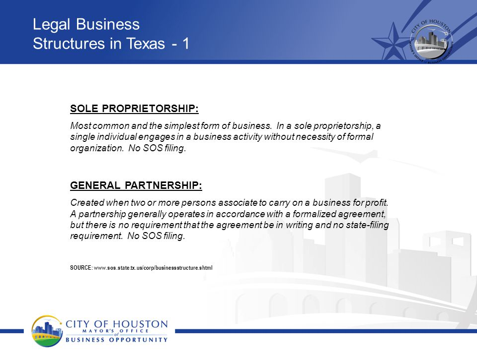 Legal Business Structures in Texas - 1