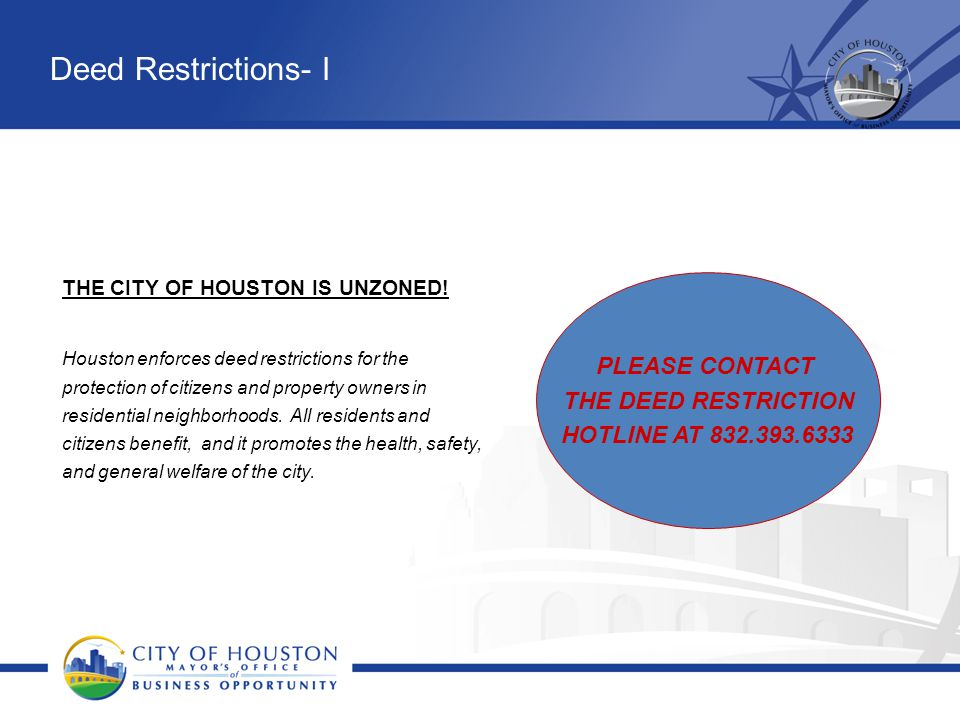 THE CITY OF HOUSTON IS UNZONED!