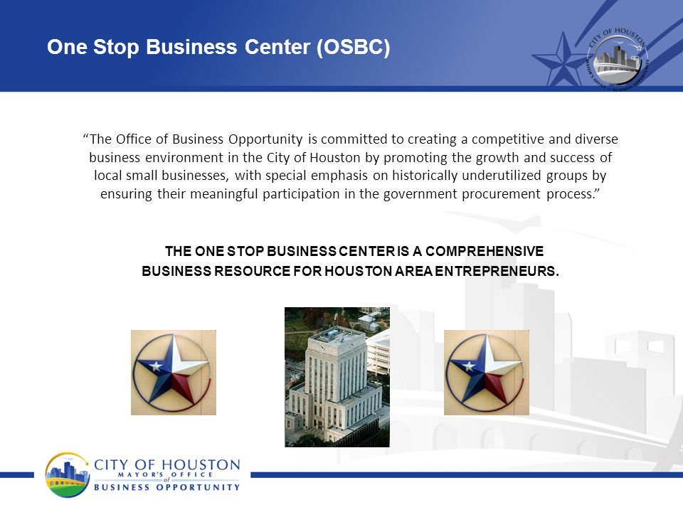 One Stop Business Center (OSBC)