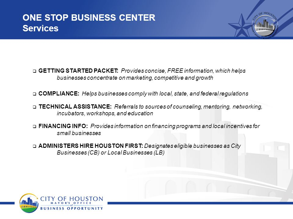 ONE STOP BUSINESS CENTER Services