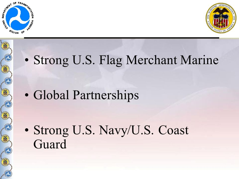 Strong U.S. Flag Merchant Marine