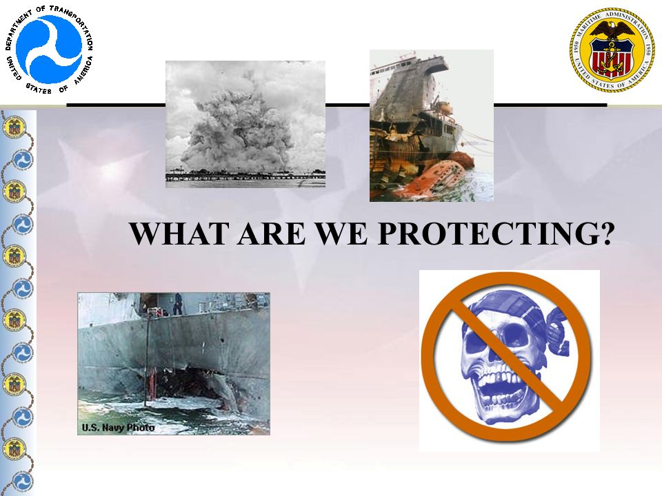 WHAT ARE WE PROTECTING Maintain our way of life, economic prosperity.