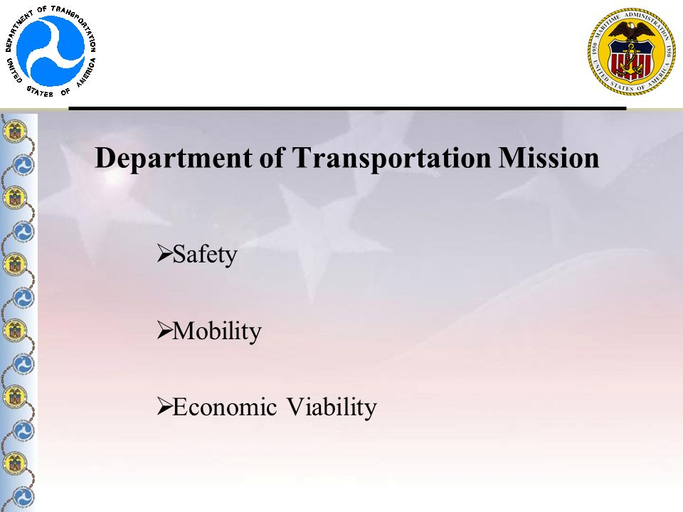 Department of Transportation Mission