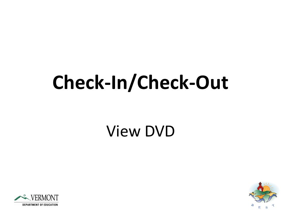Check-In/Check-Out View DVD