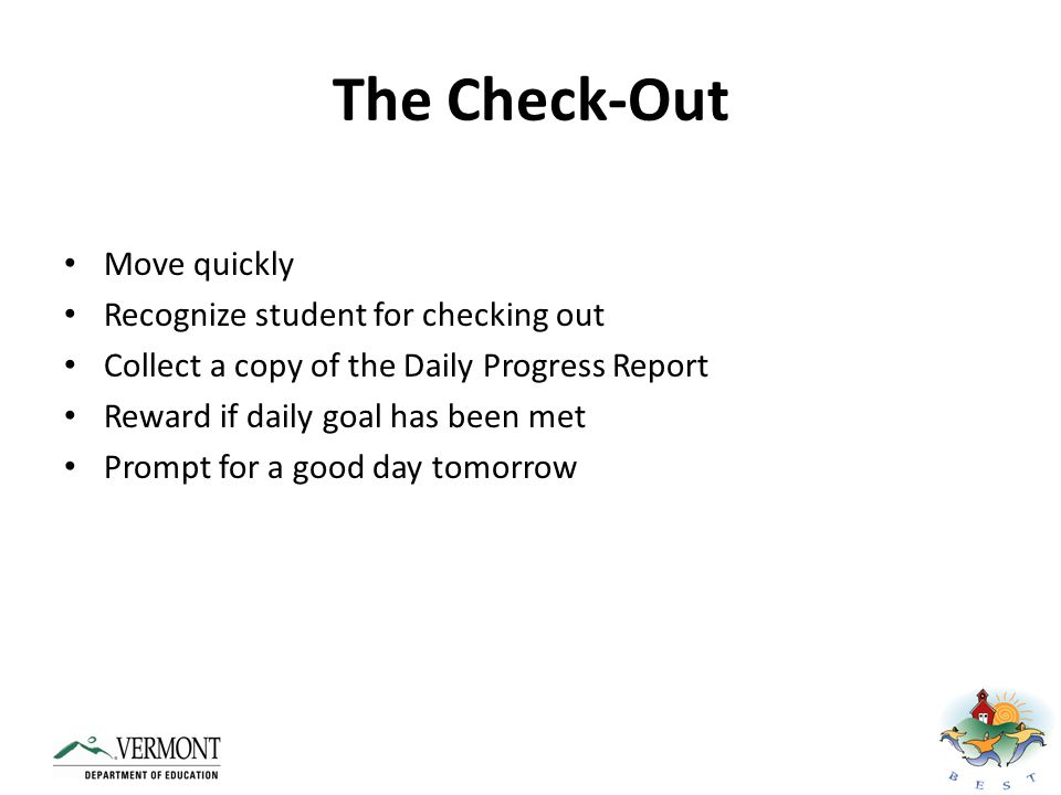 The Check-Out Move quickly Recognize student for checking out