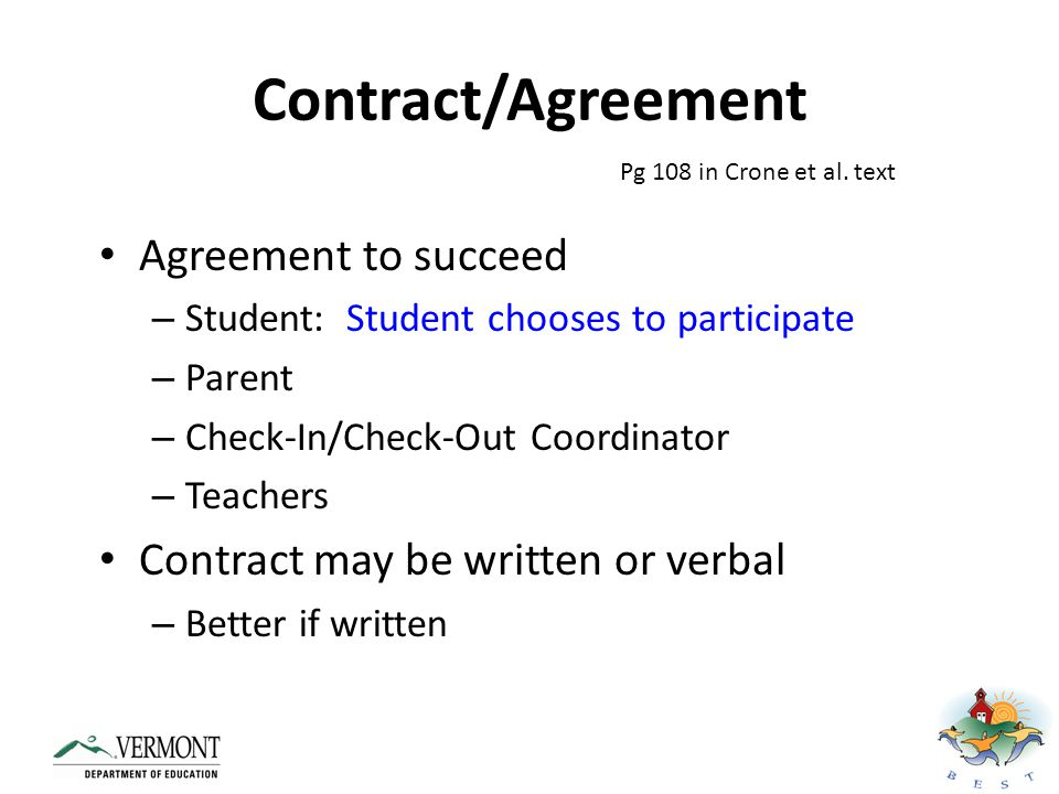 Contract/Agreement Agreement to succeed