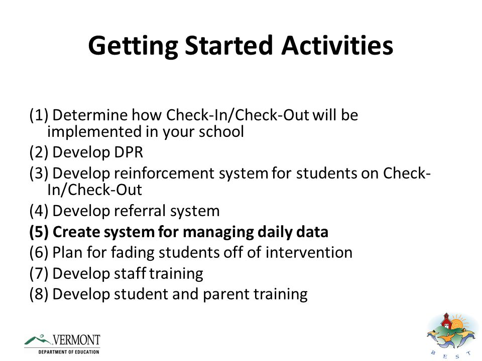 Getting Started Activities