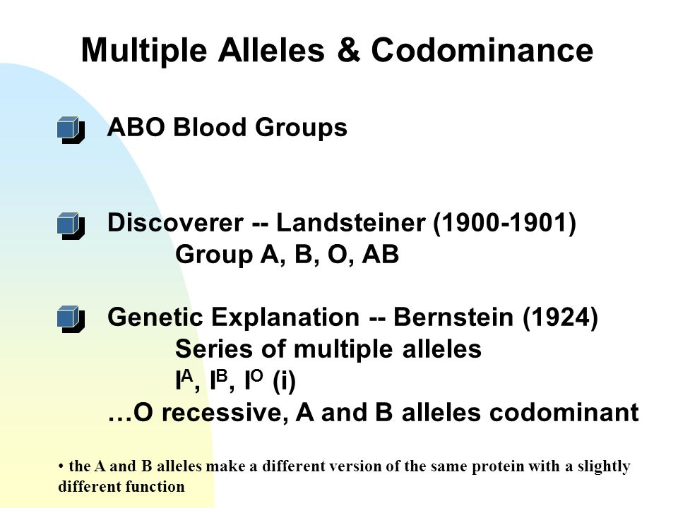 Multiple Alleles & Codominance