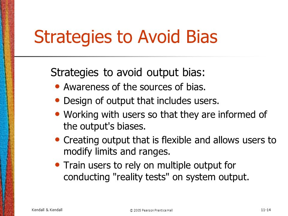 Strategies to Avoid Bias