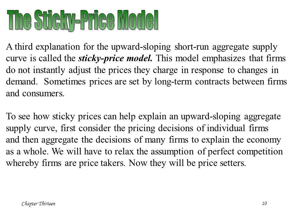 The Sticky-Price Model