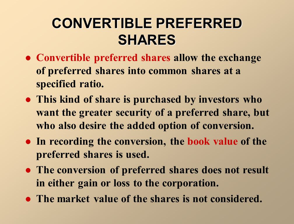 CONVERTIBLE PREFERRED SHARES