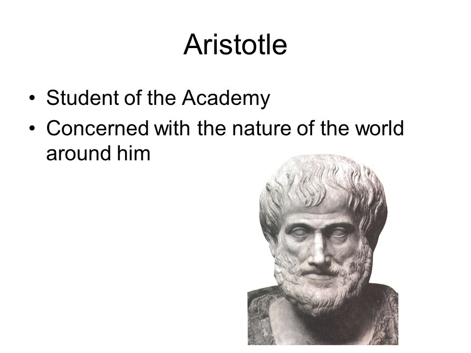 Aristotle Student of the Academy