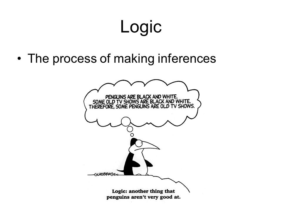 Logic The process of making inferences