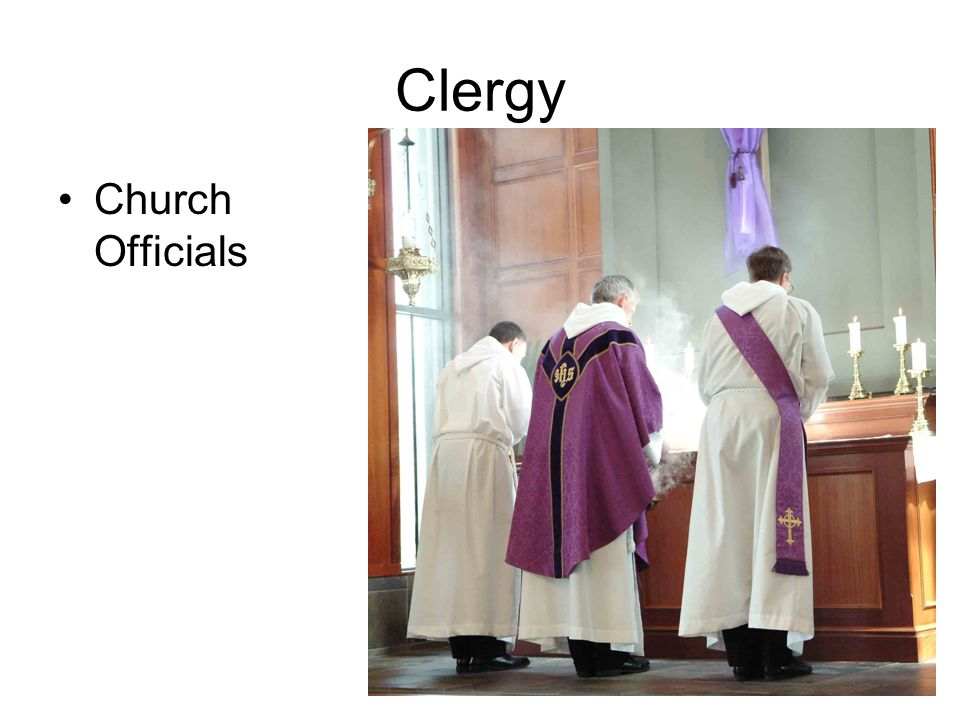 Clergy Church Officials