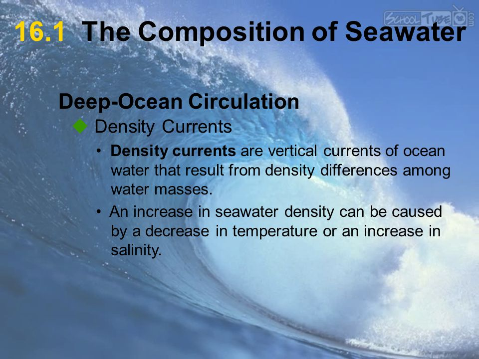16.1 The Composition of Seawater