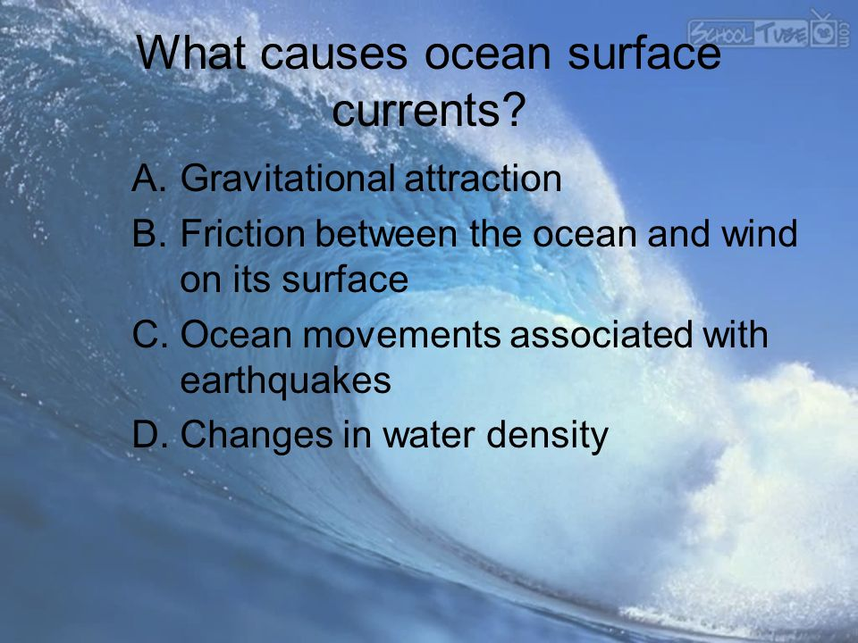 What causes ocean surface currents