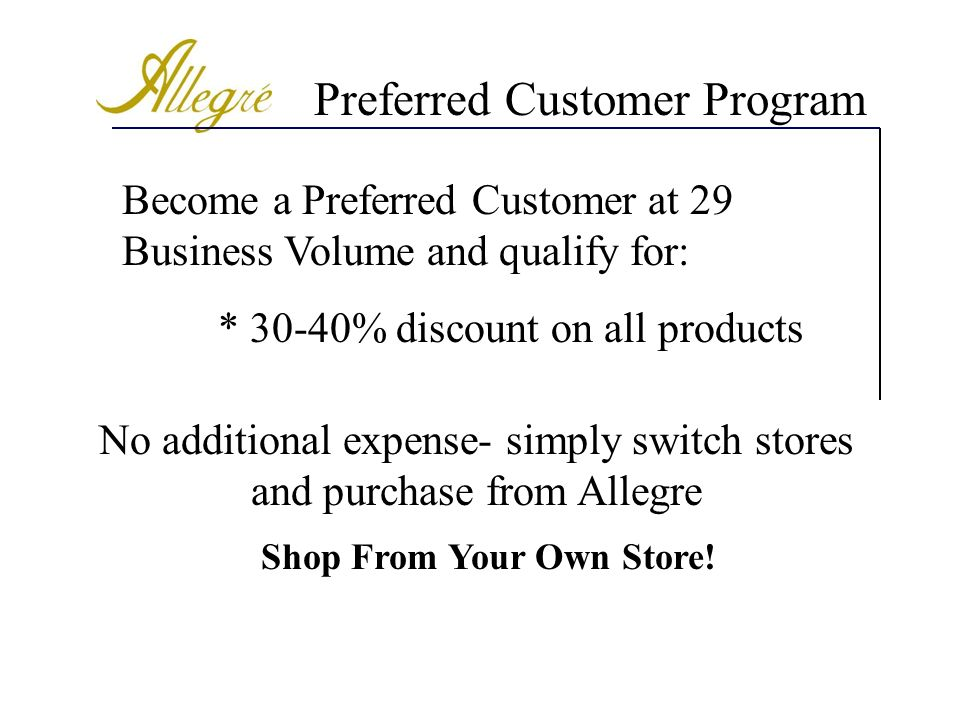 Shop From Your Own Store!