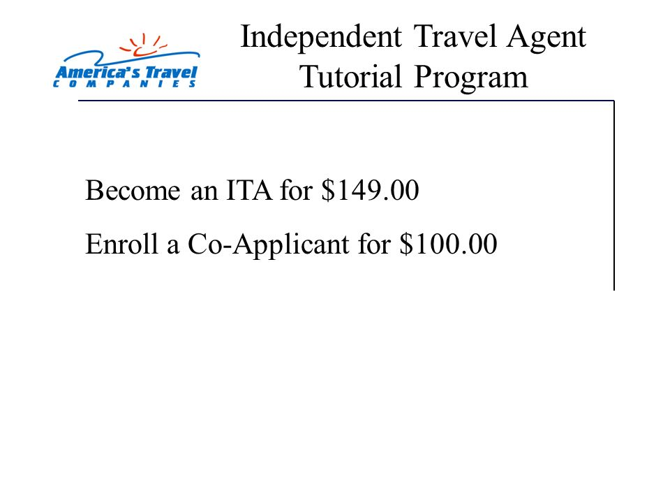 Independent Travel Agent Tutorial Program