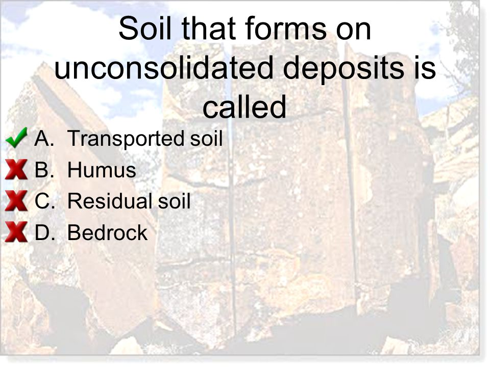 Soil that forms on unconsolidated deposits is called