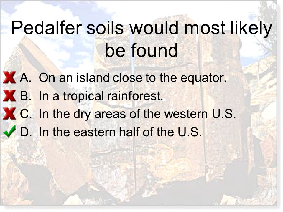 Pedalfer soils would most likely be found