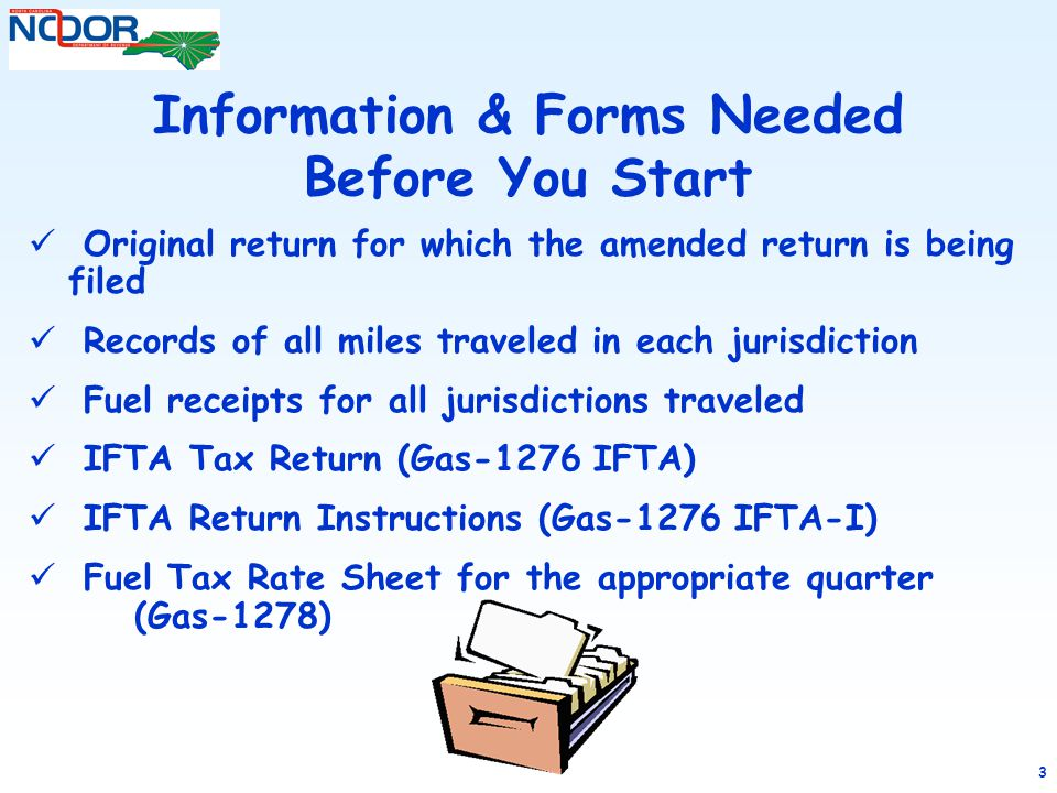 Information & Forms Needed Before You Start