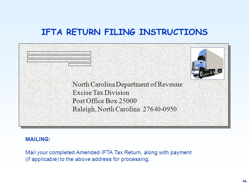 IFTA RETURN FILING INSTRUCTIONS