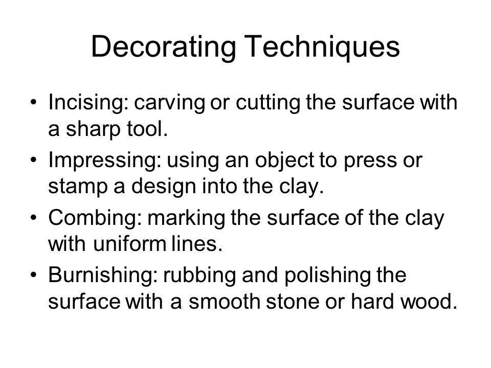 Decorating Techniques