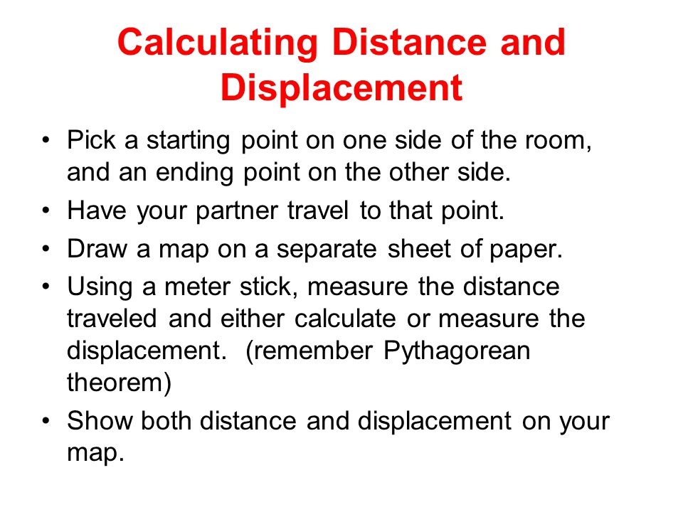 Calculating Distance and Displacement
